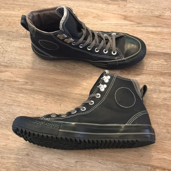 Converse Shoes Black on Black High Top